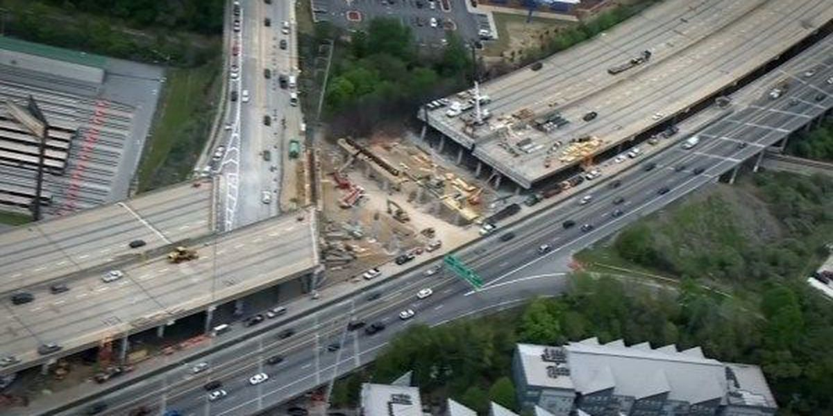 Collapsed I-85 bridge in Atlanta to reopen by late May