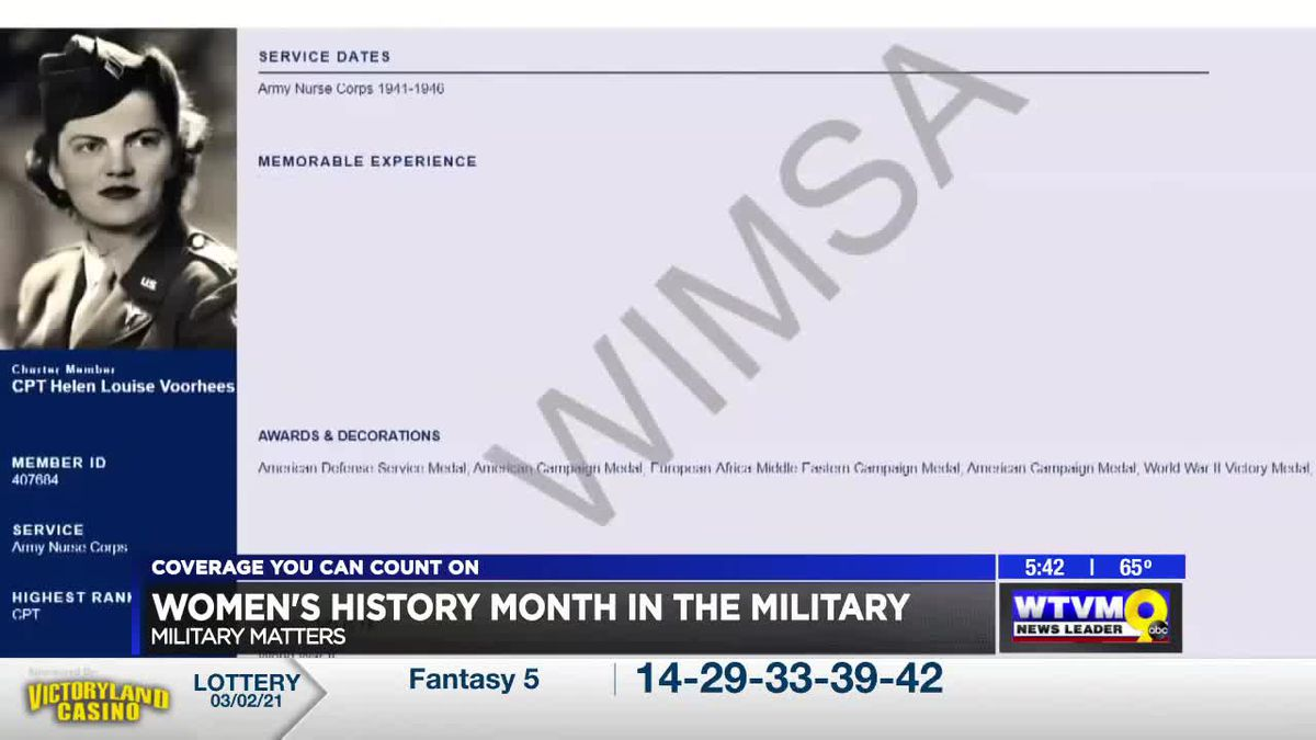 MILITARY MATTERS: Military women's memorial group honoring thousands of female soldiers