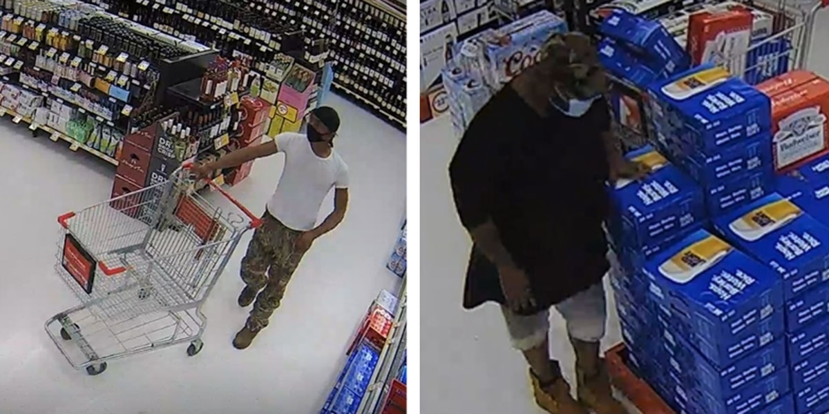 Two suspects caught on camera stealing beer from Opelika grocery store