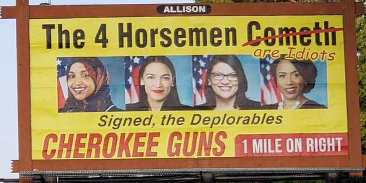 Gun shop billboard targeting congresswomen replaced