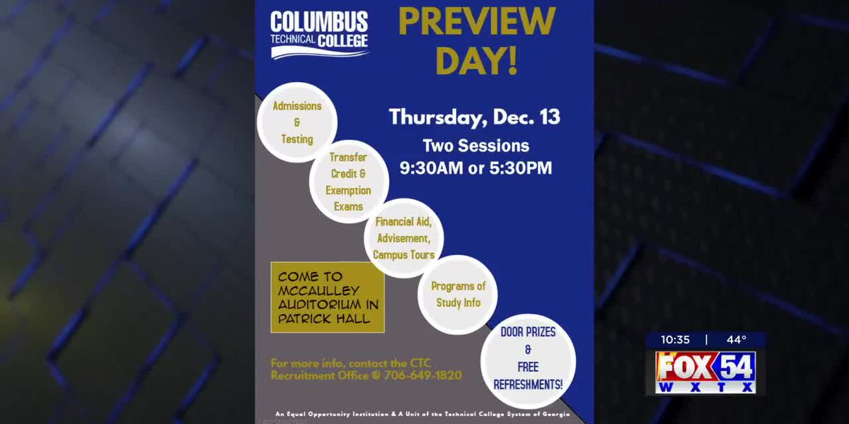Columbus Tech hosting Preview Day for future students, Virginia College transfers