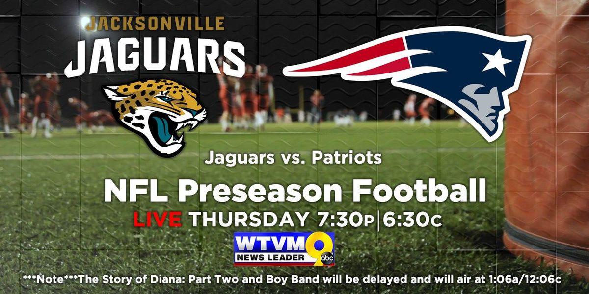 WTVM to air preseason game between Jaguars and the Patriots