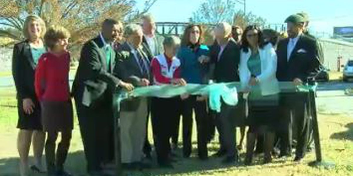 Columbus community celebrates completion of 'Follow Me' Trail and dedicates new bridge over Victory Dr.