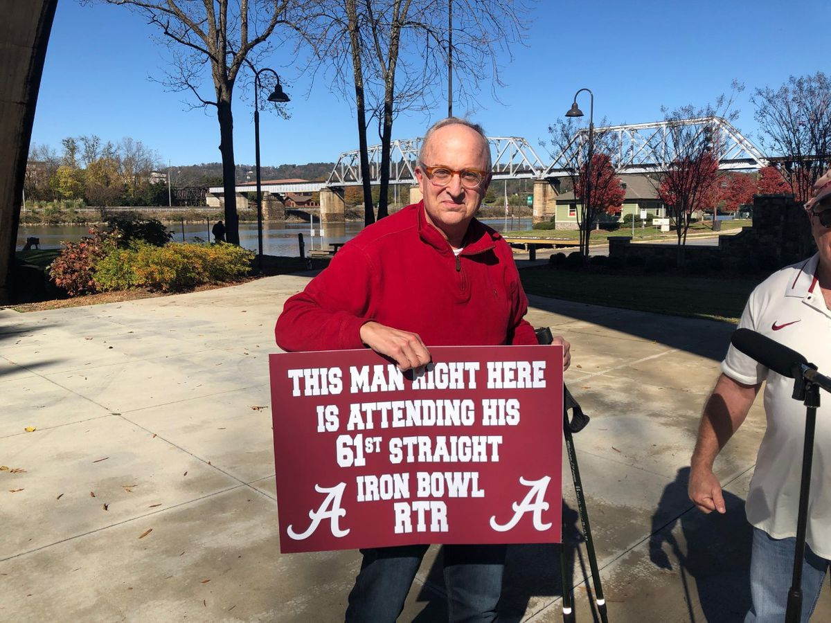 Man will attend his 61st Iron Bowl