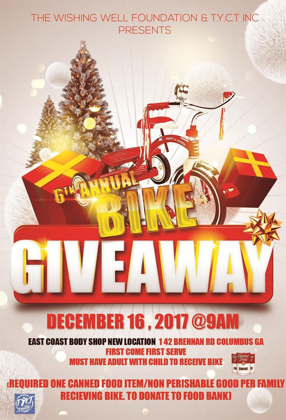 Christmas Giveaway Flyer.Columbus Youth Organization Hosts Annual Bike Giveaway
