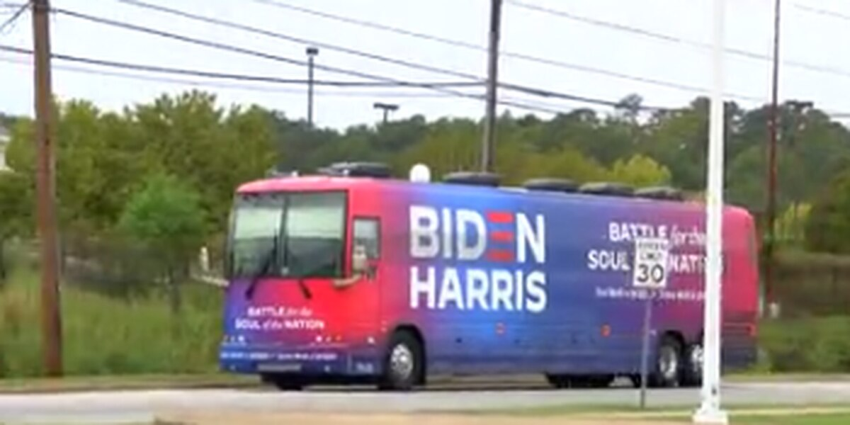 Biden-Harris campaign bus comes to Columbus