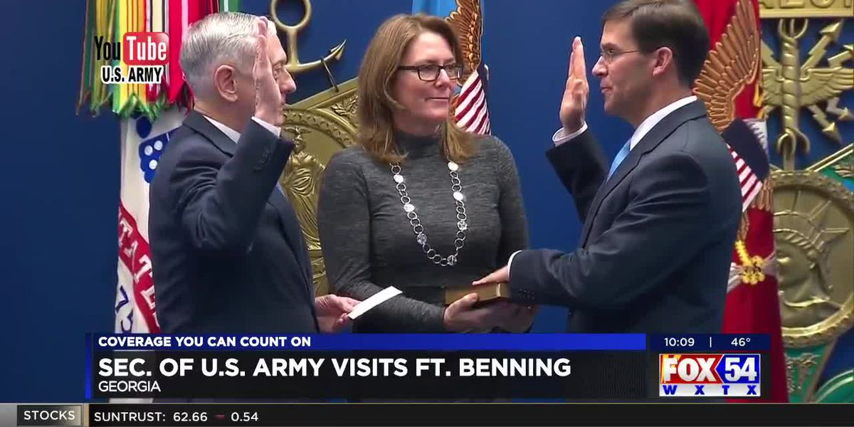 Secretary of the U.S. Army visits Ft. Benning
