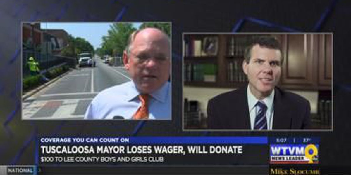 Tuscaloosa mayor donates to Lee Co. charity after losing Iron Bowl wager