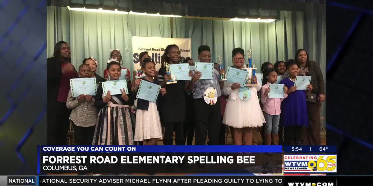 Forrest Road Elementary in Columbus names spelling been winner and runner up