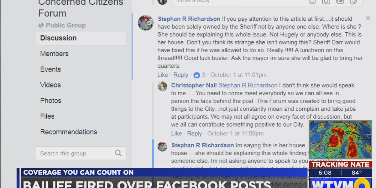 Muscogee Co. bailiff fired over Facebook posts