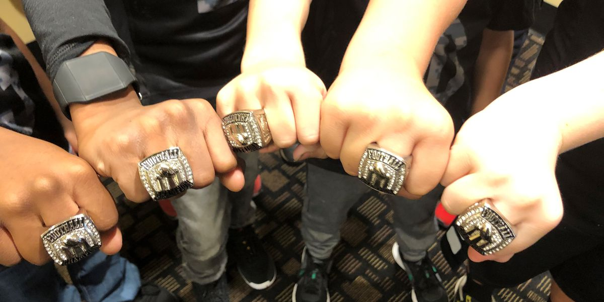 Smiths Station little league football team gives up zero points all season, gets championship rings
