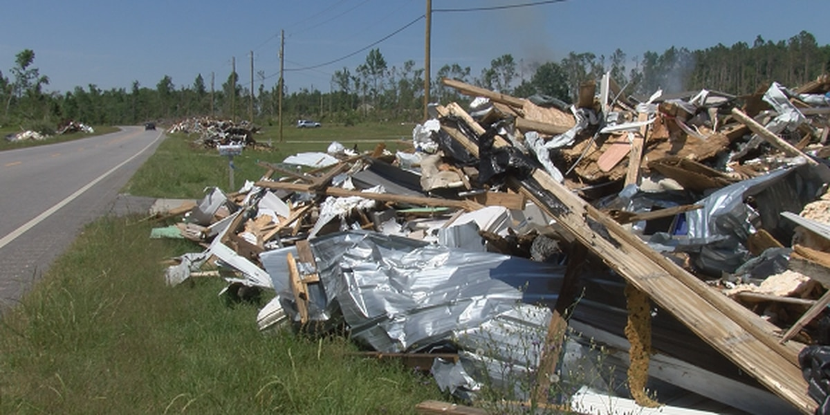 Debris from Lee County tornadoes still sits months later
