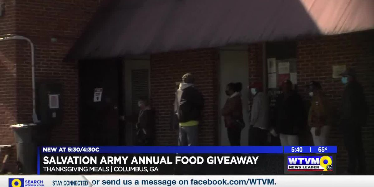 Salvation Army in Columbus hosts annual Thanksgiving meal giveaway