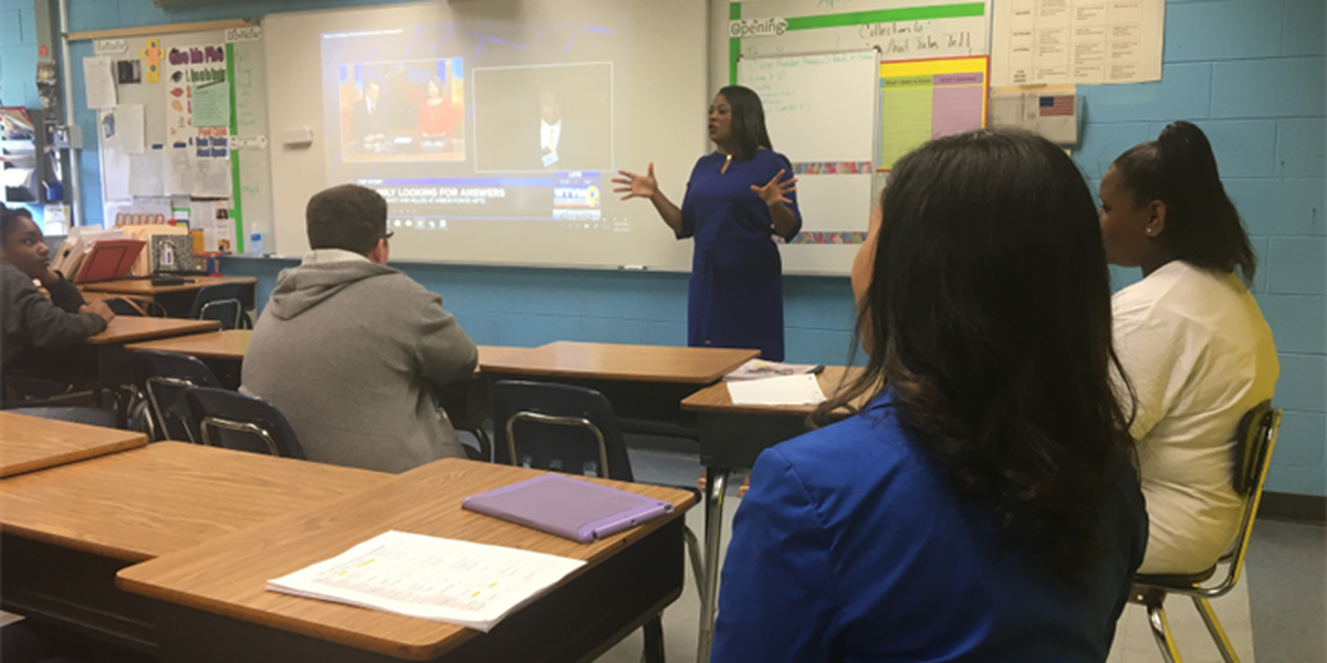 Eddy Middle School invites News Leader 9 to career day