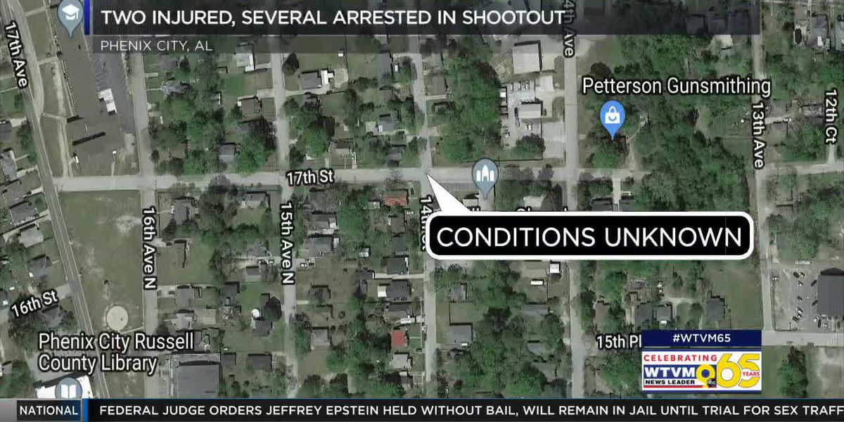 Two shot, several arrested after Phenix City shootout in broad daylight