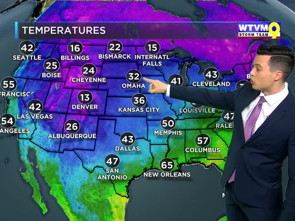 Strong Cold Front Arrives Just In Time For December!