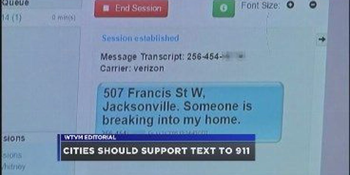 WTVM Editorial 1/8/16: Cities should support text to 911