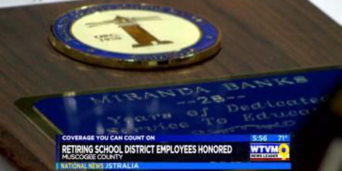 Retiring school district employees honored