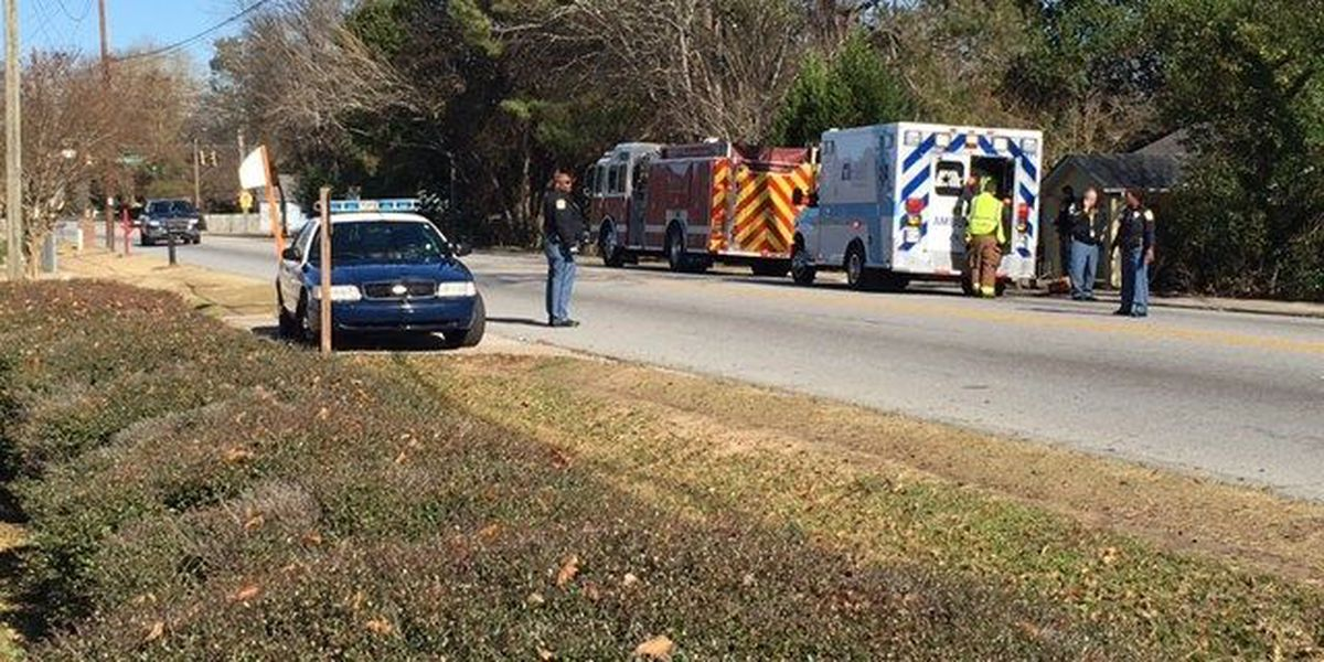 Pedestrian struck by a vehicle on North Lumpkin Rd.
