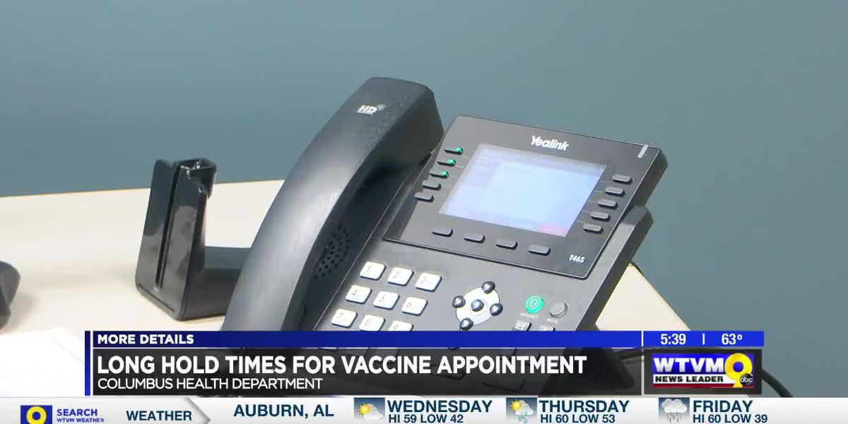 Callers experiencing long hold times for COVID-19 vaccine appointments with Georgia DPH