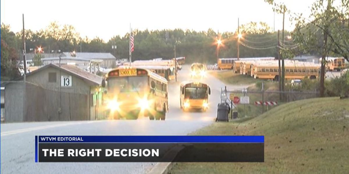 WTVM Editorial 10/10/17: The right decision