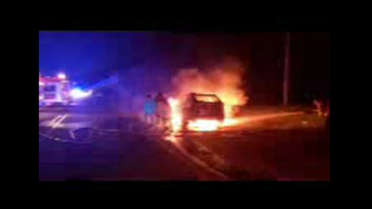 Suspect saved from fiery crash following car pursuit in Lee County