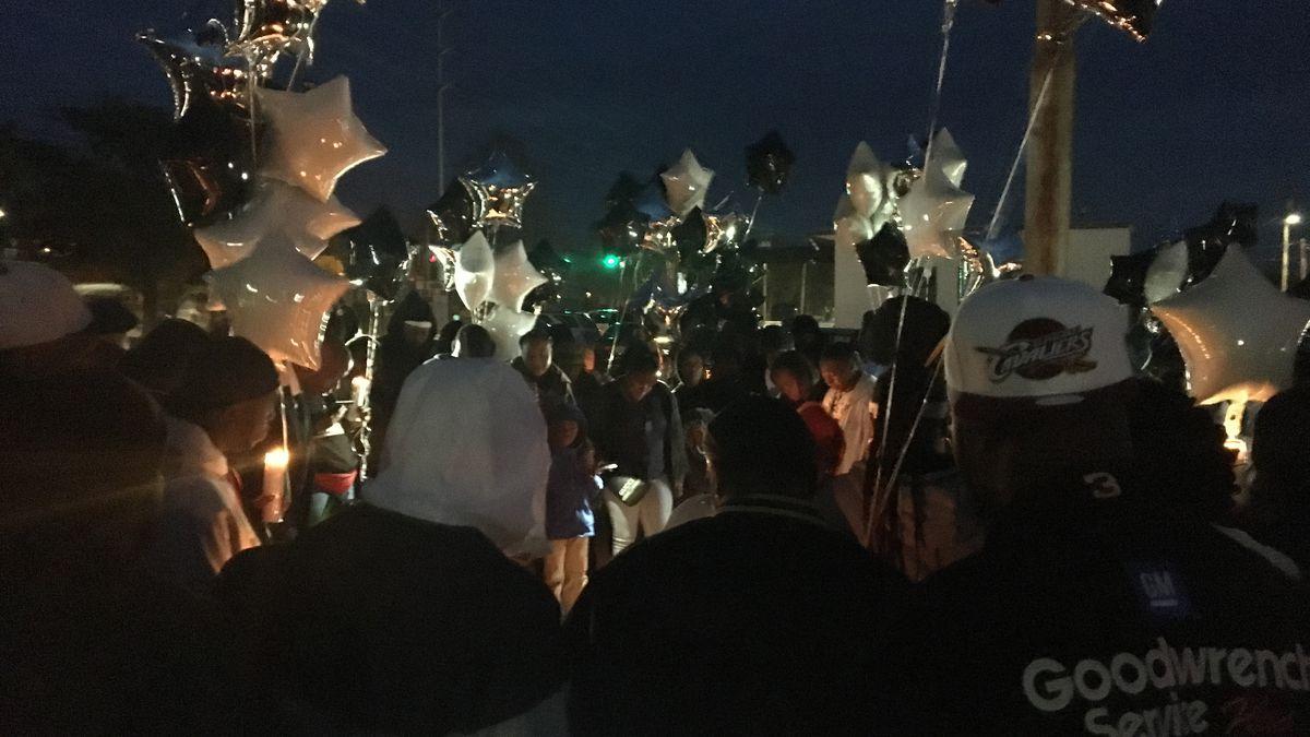 Community gathers for vigil in honor of Columbus man killed on MLK Jr. Blvd.
