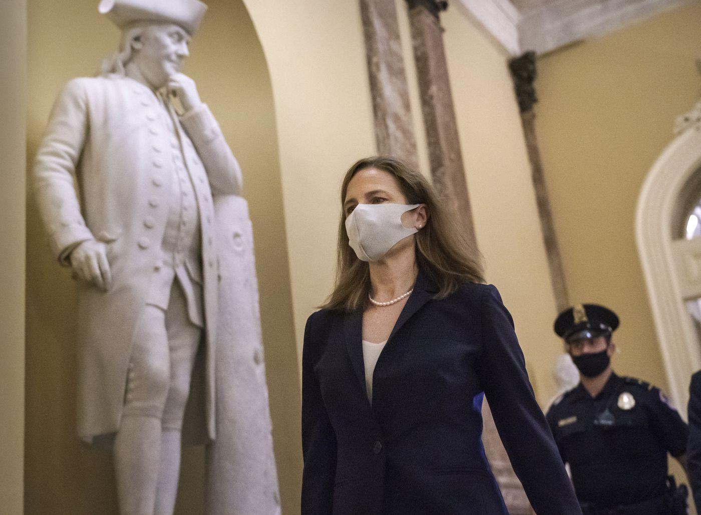 LIVE: GOP senators power Barrett toward high court confirmation