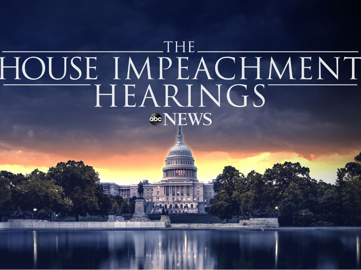 WATCH LIVE: Impeachment hearings beginning on Capitol Hill