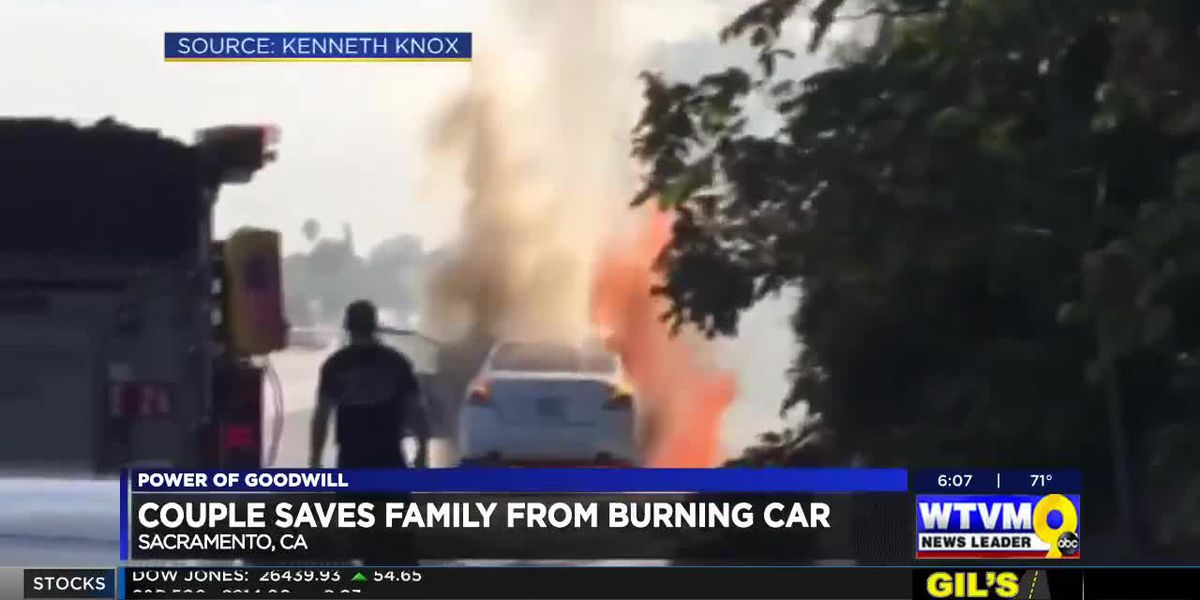 The Power of Goodwill: Couple saves family from burning car