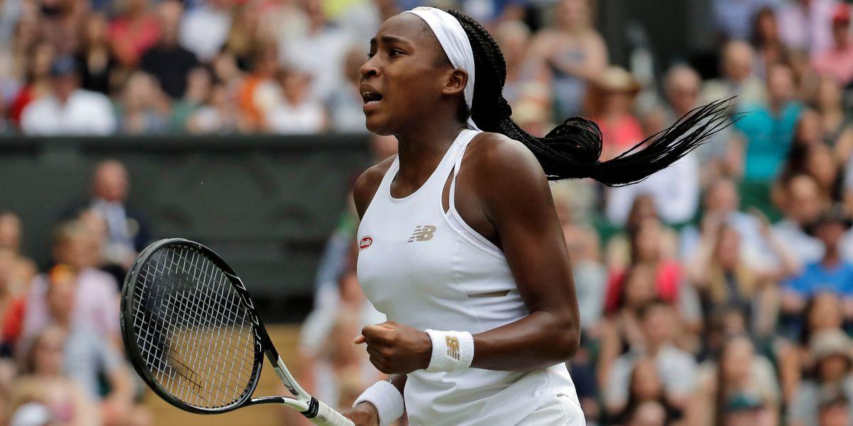 Coco Gauff, 15, pulls off another upset at Wimbledon