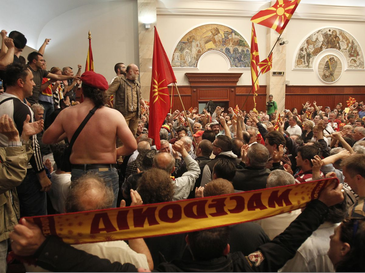 Macedonia offers partial amnesty for storming of parliament