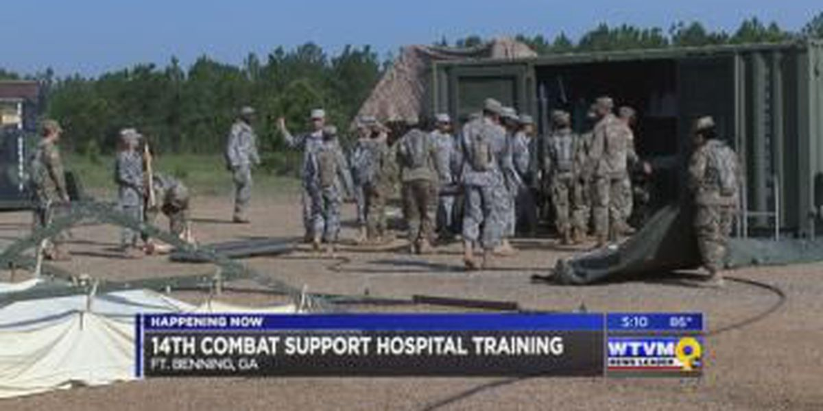14th Combat Support Hospital training operation at Fort Benning