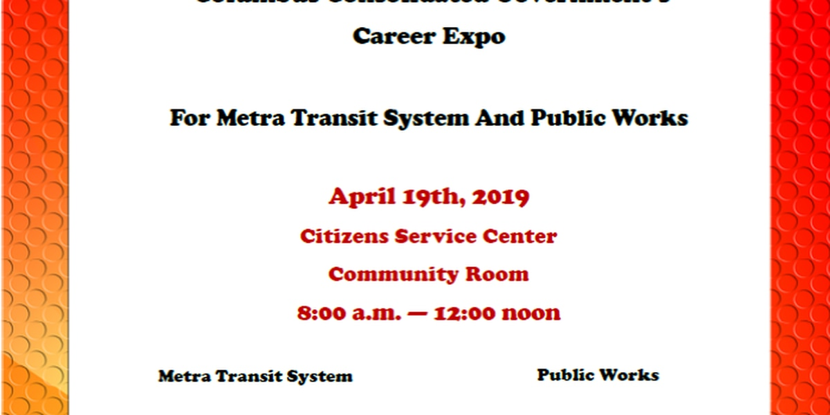 City of Columbus hosting career expo for Metra Transit System and Public Works positions