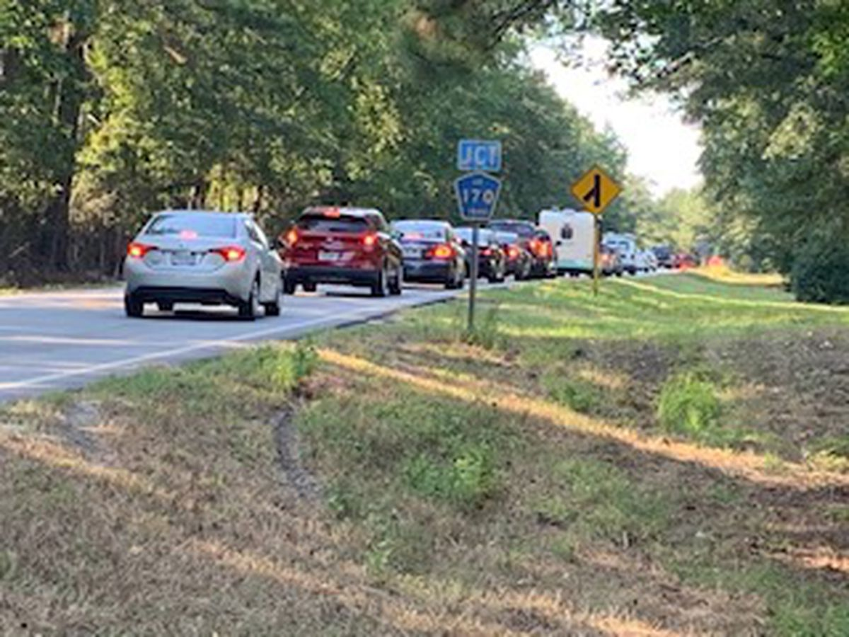 Traffic delayed following vehicle accident on Hwy. 169 in Salem