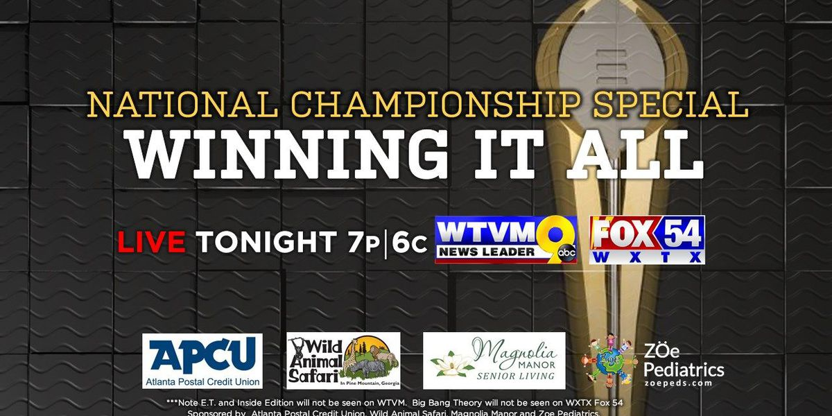 Wtvm Wxtx To Host National Championship Special