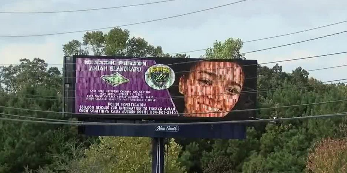 Billboard and fliers of missing Aniah Blanchard spread across East Alabama
