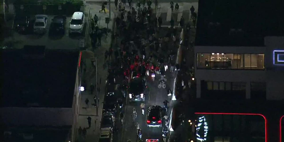 Car drives into crowd at Breonna Taylor protest in Los Angeles