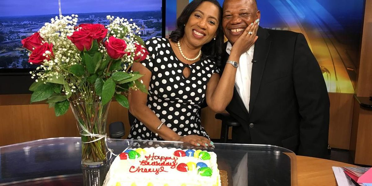 Anchor Cheryl Renee gets a surprise early birthday present: her husband