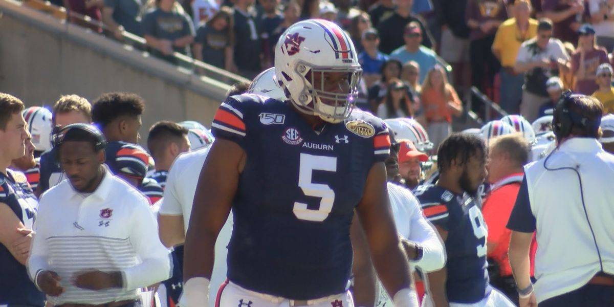 Former Auburn D-lineman Derrick Brown taken in 1st round