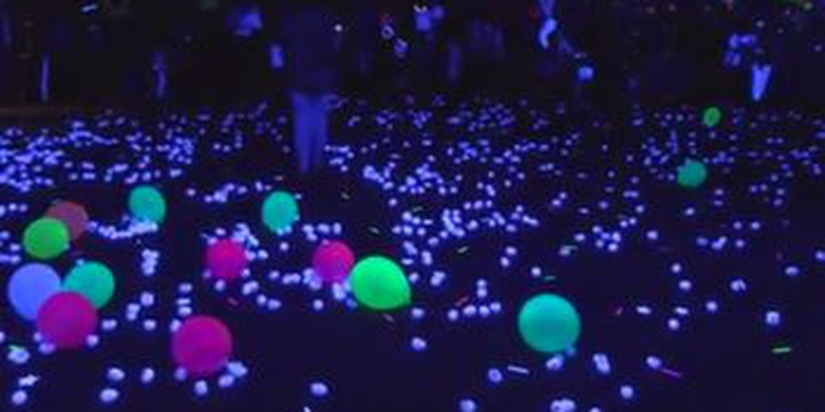 Solid Rock Church in Midland hosts glow in the dark Easter egg hunt