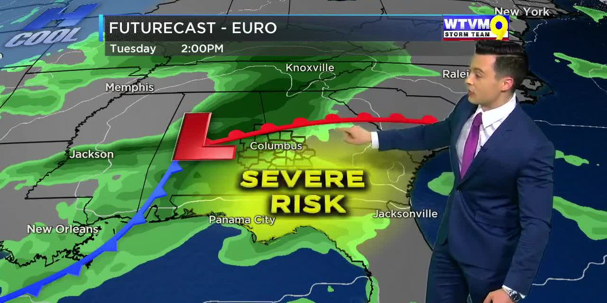 Severe storms possible Tuesday