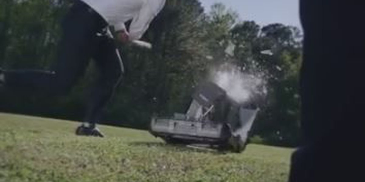 GA Secretary of State candidate smashes voting machine in latest ad