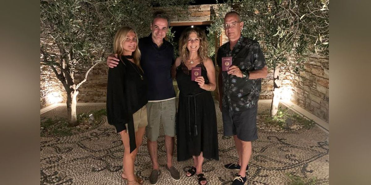Tom Hanks and Rita Wilson get Greek citizenship for wildfire aid