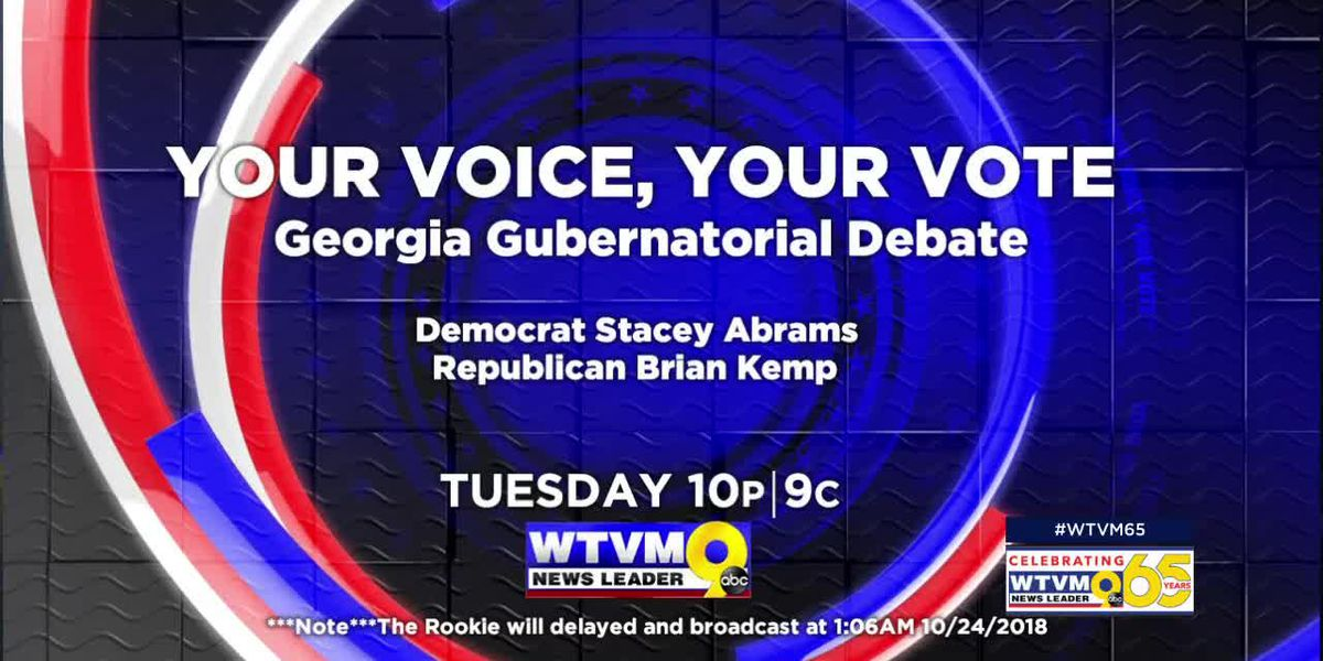 WTVM to air Georgia Gubernatorial Debate between Brian Kemp and Stacey Abrams