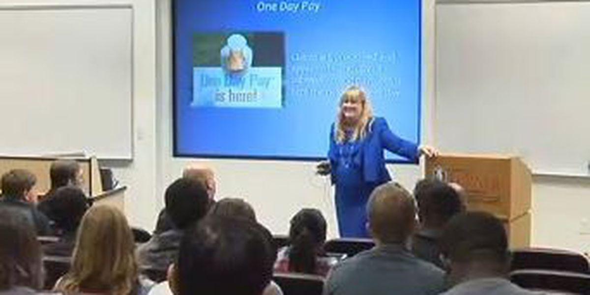 Aflac exec speaks at CSU leadership series