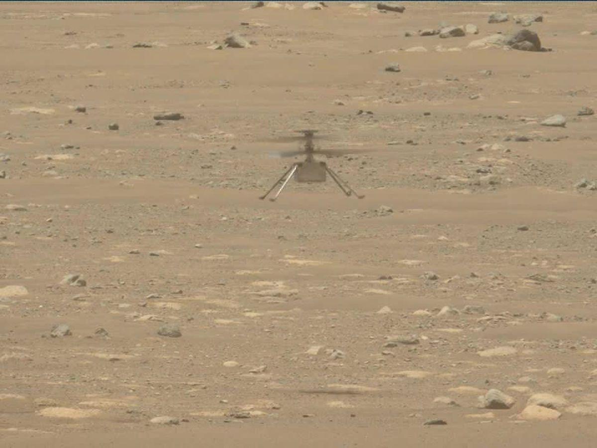 NASA's Mars helicopter soars higher, longer on 2nd flight