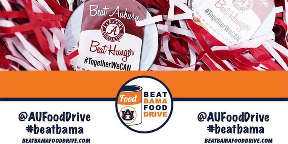 UA, Auburn kick off annual food drive