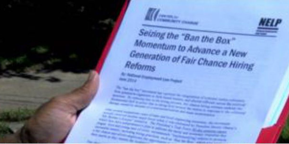 'Ban the Box' provides help to convicted felons seeking jobs