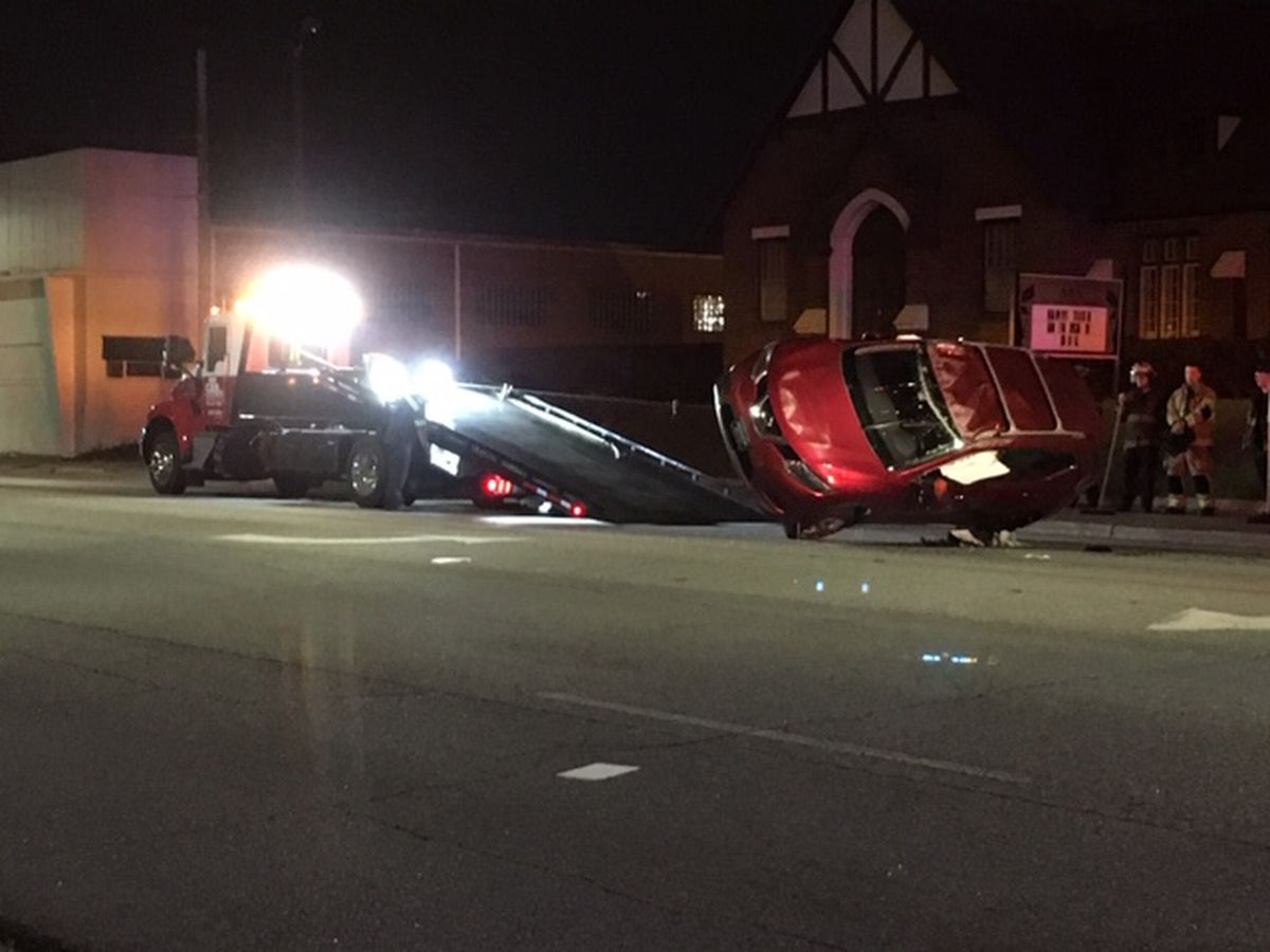 First responders on the scene of vehicle accident near 13th St. and Webster Ave. in Columbus